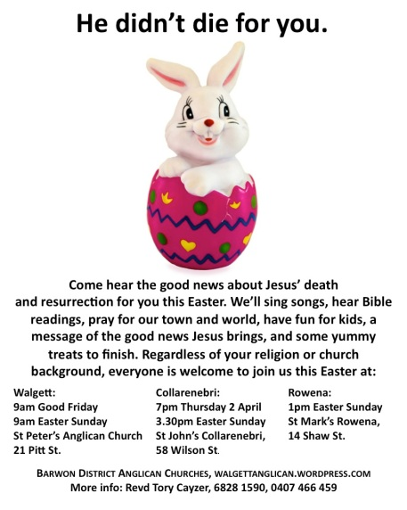 Easter 2015 Anglican Service Times