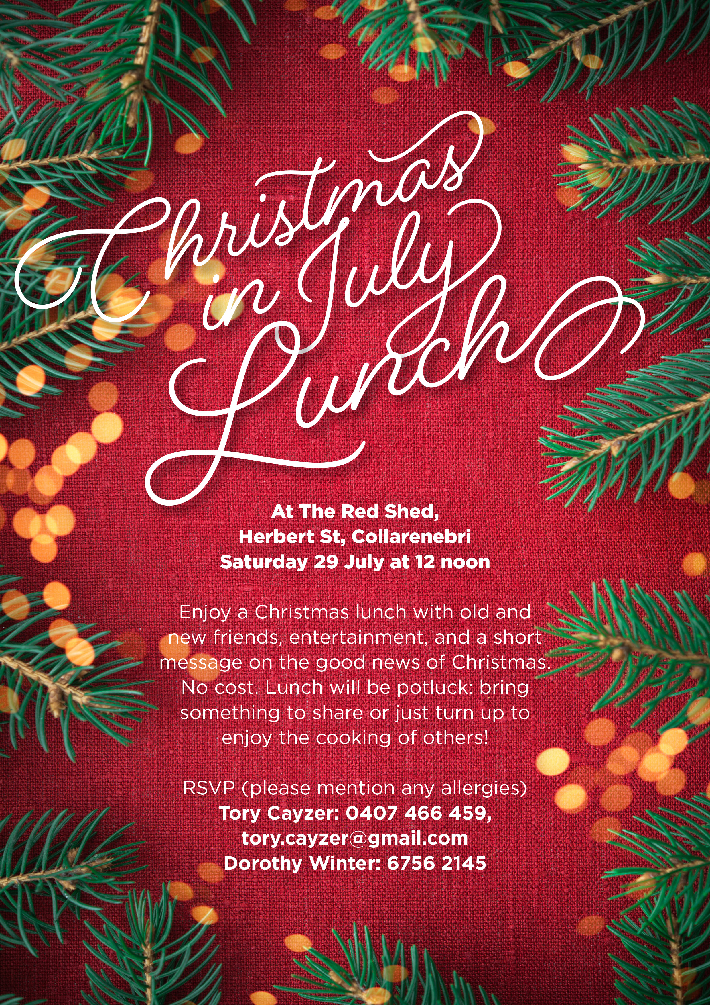 colly christmas in july lunch 12noon saturday 29 july barwon district anglican churches - Christmas In July Australia